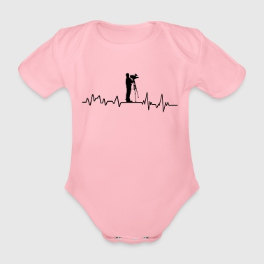 Heartbeat cameraman t-shirt cadeau Movie Theater - Baby bio-rompertje met korte mouwen
