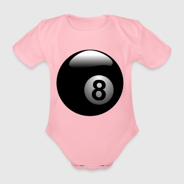 Billiard ball 8 - Organic Short-sleeved Baby Bodysuit