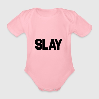 Slay 2 Black - Organic Short-sleeved Baby Bodysuit