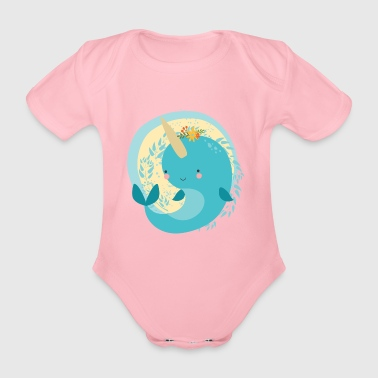 Narwal - Organic Short-sleeved Baby Bodysuit