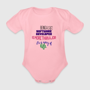 Software developer - Organic Short-sleeved Baby Bodysuit
