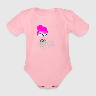 Geek woman - Organic Short-sleeved Baby Bodysuit