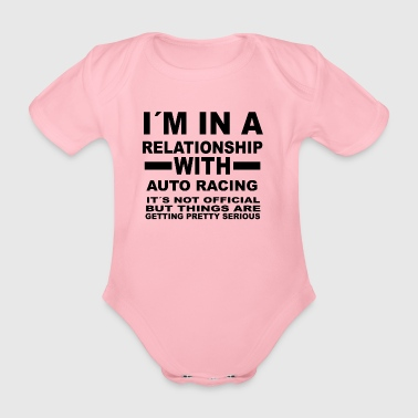 Relationship with AUTO RACING - Organic Short-sleeved Baby Bodysuit
