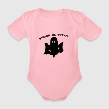 trick or treat Trick or Treat Halloween - Organic Short-sleeved Baby Bodysuit