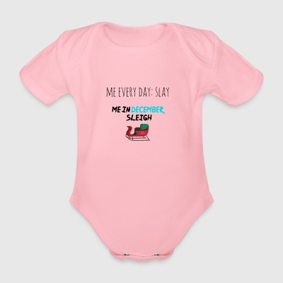 Slay in December - Organic Short-sleeved Baby Bodysuit