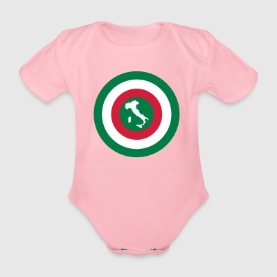 Italia - Organic Short-sleeved Baby Bodysuit