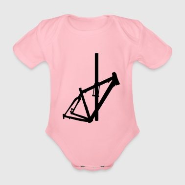Bicycle frame 1 - Organic Short-sleeved Baby Bodysuit
