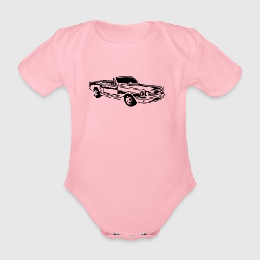 Convertible / Muscle Car 02_black - Organic Short-sleeved Baby Bodysuit