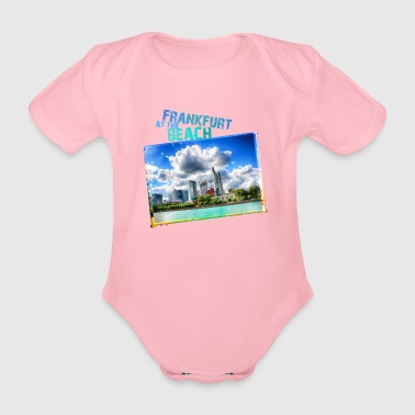 Frankfurt at the Beach - Organic Short-sleeved Baby Bodysuit