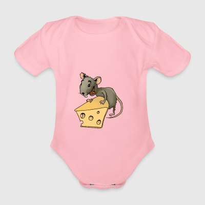 Fiese mouse rodent mouse vermin rodent cheese - Organic Short-sleeved Baby Bodysuit