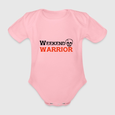 Shirt Weekend Warrior weekend di festa - Body ecologico per neonato a manica corta
