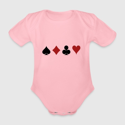 Poker Blackjack Ass Devil Devil Casino Angel Card - Organic Short-sleeved Baby Bodysuit
