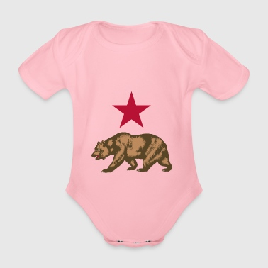 Russian bear - Organic Short-sleeved Baby Bodysuit