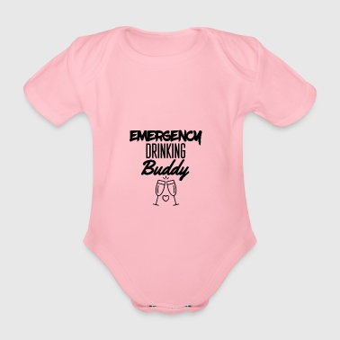 Emergency drinking buddy - Organic Short-sleeved Baby Bodysuit