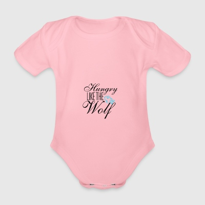 Hungry like the wolf - Organic Short-sleeved Baby Bodysuit