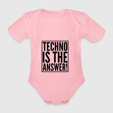 TECHNO - Organic Short-sleeved Baby Bodysuit
