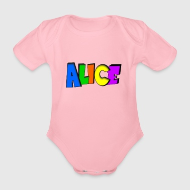 Alice - Organic Short-sleeved Baby Bodysuit
