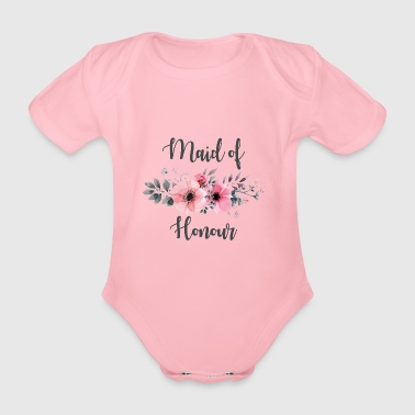 Maid of Honour. Hen Party. Bridesmaid. Hen do.Sale - Organic Short-sleeved Baby Bodysuit