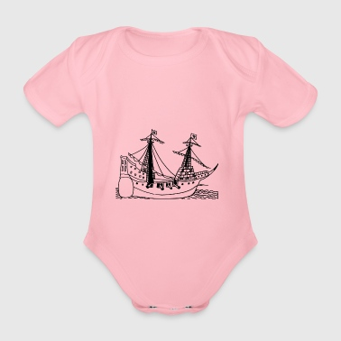 sailing ship - Organic Short-sleeved Baby Bodysuit