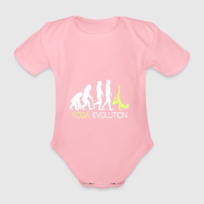 Evolution - Yoga T-Shirt Geschenk - Baby Bio-Kurzarm-Body