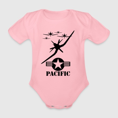 Pacific blak - Organic Short-sleeved Baby Bodysuit