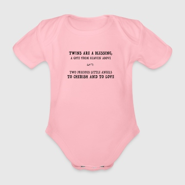 Twins are a blessing - Organic Short-sleeved Baby Bodysuit
