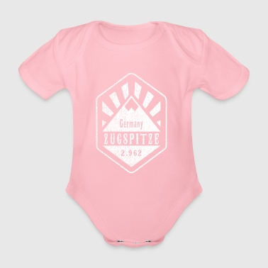 Zugspitze coat of arms - white - Organic Short-sleeved Baby Bodysuit