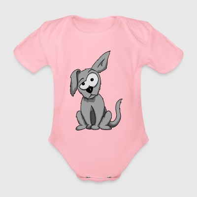 weird dog floppy ear funny cartoon gift - Organic Short-sleeved Baby Bodysuit