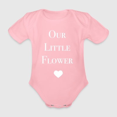 Vår Little Flower - Økologisk kortermet baby-body