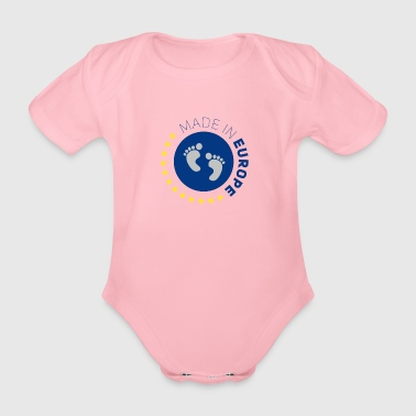 made in europe love EU europe baby love europe lo - Organic Short-sleeved Baby Bodysuit