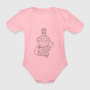Forever Young - Organic Short-sleeved Baby Bodysuit
