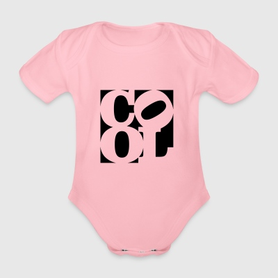 cool homage to Robert Indiana schwarz aussen - Baby Bio-Kurzarm-Body