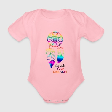 Catch Your Dreams. - Organic Short-sleeved Baby Bodysuit