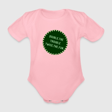 Double The Trouble 01 - Organic Short-sleeved Baby Bodysuit