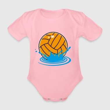 water polo - Organic Short-sleeved Baby Bodysuit
