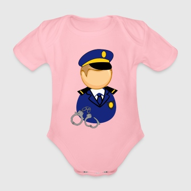 police officer - Organic Short-sleeved Baby Bodysuit