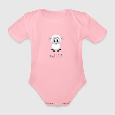 Marina Sheep - Økologisk kortermet baby-body