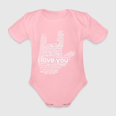 Love In Every Language American Sign Language ASL - Organic Short-sleeved Baby Bodysuit