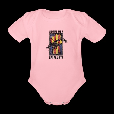 Catalonia Saying Independence Politics Gift - Organic Short-sleeved Baby Bodysuit
