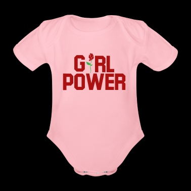 Poder femenino. Girl Power gifts.Best Seller - Body orgánico de maga corta para bebé