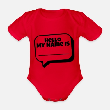 Name Hello, my name is - Organic Short-Sleeved Baby Bodysuit