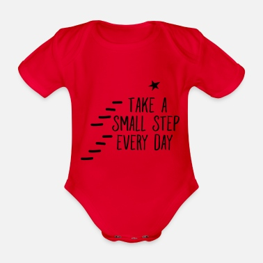 Head Coach Take A Small Step Every Day - Organic Short-Sleeved Baby Bodysuit