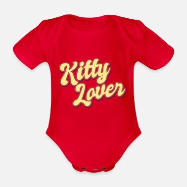 Cuore Kitty Lover Cat Lover Cat Cat Meow - Body bébé bio manches courtes