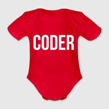 Coder - Organic Short-sleeved Baby Bodysuit