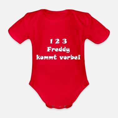 Freddie Freddy Krüger comes over (white) - Organic Short-sleeved Baby Bodysuit
