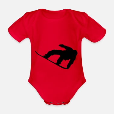 Sports snowboard - Organic Short-sleeved Baby Bodysuit