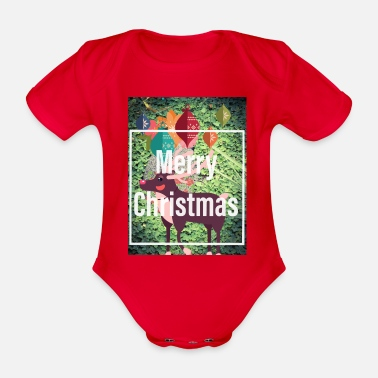 Merry Merry christmas / Merry Christmas - Organic Short-sleeved Baby Bodysuit