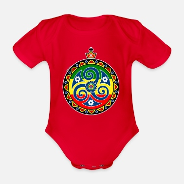 Celtic Triskele Rasta - Organic Short-Sleeved Baby Bodysuit
