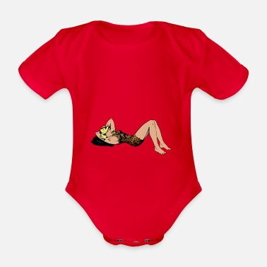 Pinup Pinup woman - Organic Short-Sleeved Baby Bodysuit