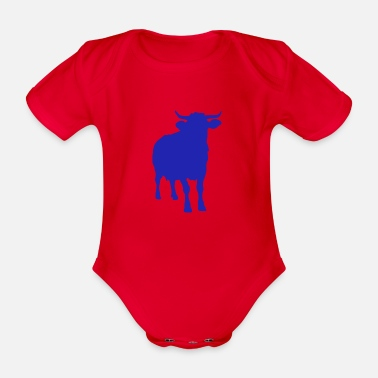 Cow cattle cattle dairy farmer cattle farmer - Organic Short-Sleeved Baby Bodysuit